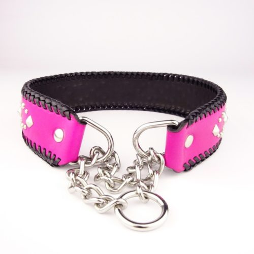 Rocker Pink! – Half-chain collar for big dogs