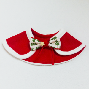 Red & white Christmas cape (bow)